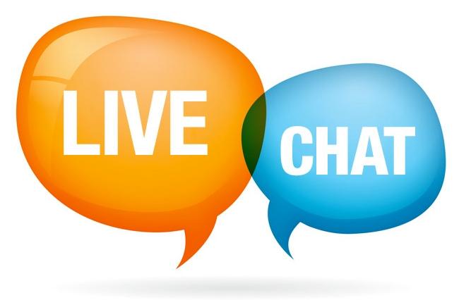 live chat bubble